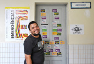 Flávio Bento, da Comissão Eleitoral, já foi presidente do DCE e agora ajuda no processo para uma nova gestão. (Foto: Pollyana Lopes)
