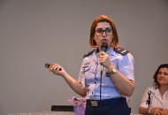 """1ª Tenente Carla Pereira: """"nosso dia a dia de trabalho é muito gostoso, e às vezes não me remete a um quartel"""". (Foto: Gian Cornachini)"""